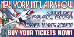 New York International Air Show - August 29-30, 2020 at Orange County Airport